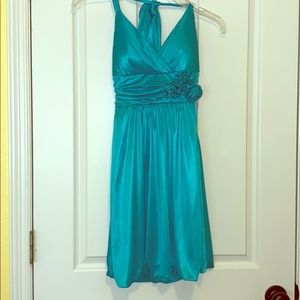Blue Trixxi halter dress XS